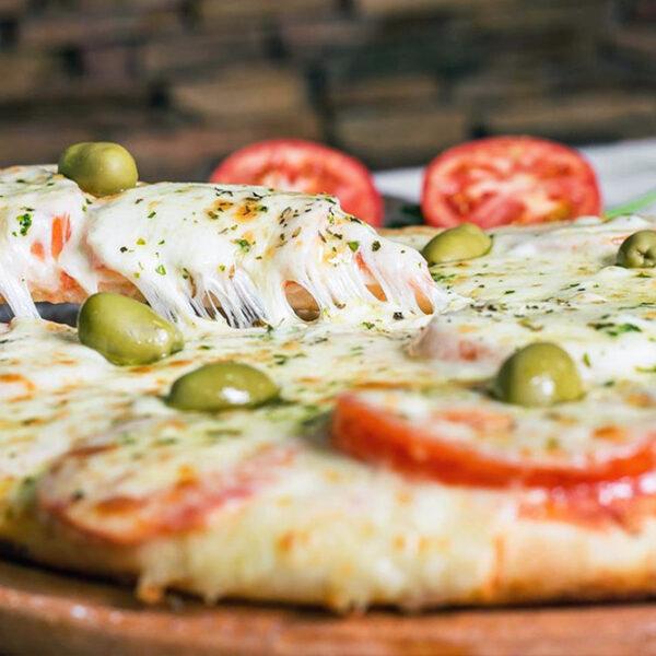 Sabores Mendoza | Pizza de Muzzarella y Jamón - Delivery Pedidos Online Mendoza