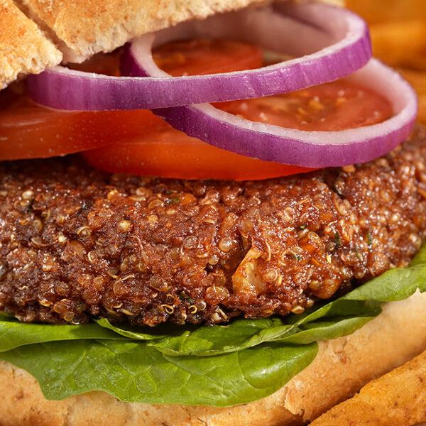 Sabores Mendoza Menu Diario Hamburguesa Vegetariana con Guarnición Delivery Pedidos Online Mendoza